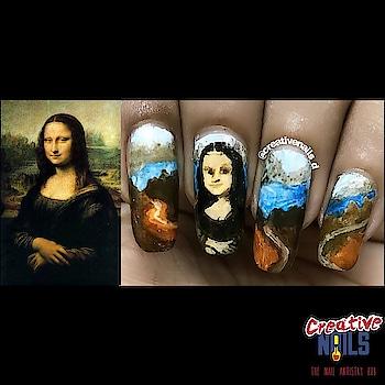 Monalisa On Nails! https://creativenails.in/2018/07/11/leonardo-da-vincis-monalisa-on-nails/ #nailart #monalisa #creativenails_d #creativenails_beautyproducts #roposo #ropo-style #fashion #nail-designs #nailswag #monalisasmile
