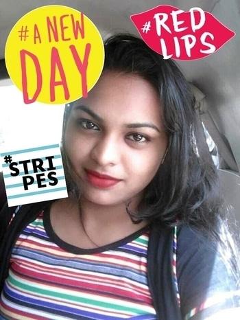 #stripes #redlips #anewday