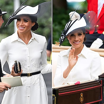 Meghan Markle makes her Royal Ascot debut in another stunning Givenchy look! And that fascinator 😍🌟 . Swipe for full look . . . . . #theredbox #crazysexycool #meghanmarklestyle #meghanmarkle #duchessofsussex #princeharry #royalstyle #royalty #royalascot #givenchy #meghan #kensingtonpalace #love #sopretty #fascinator #ootd #lookoftheday #lovebirds #loveisintheair #celebrityfashion #celebstyle #celebritystyle #thecrown #instalove #london #uk #givenchydress #white #whitedress