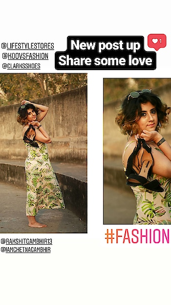 Summer | Tropical | Vibes Link in the bio New day New story . . . Photographer : @rakshitgambhir13  Love Cg #fashion  #fashionblogger  #makeup   #summer  #fashion2018  #print  #tropical  #floral  #palm  #palmleaves #beauty   #streetstyle  #fashionista  #indianstyleblogger  #indian  #indianblogger  #ootd  #outdoorshoot  #instafashion  #shorthair  #curls   #koovs  #nofilter  #clarksforlife #clock   #2018  #clarks