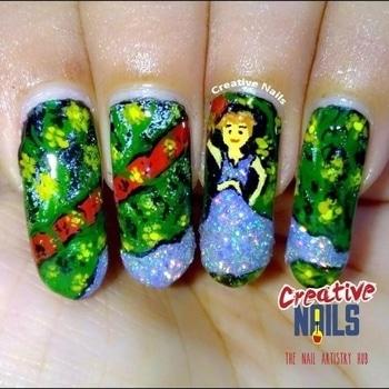 #nailart #creativenails #nailartblogger #doll #nail-designs #nail-addict #nailartwow