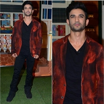 Sushant Singh Rajput Blazer-Avant Jeans-Damir Doma Shoes-Peter Non Styled by-The Vainglorious