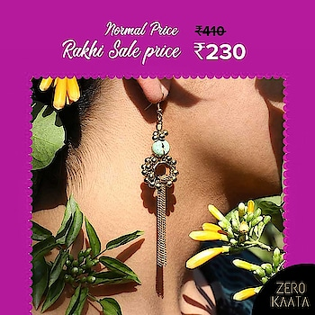 ". 🌷🌷Jewellery Sale : 🌷🌷 . ------------------------------------------------ FLAT 50% OFF AND 30% USING CODE "" RAKHI30"". ------------------------------------------------ . . Celebrate The Festival Of Bond With Our Unique Designs. . What are you waiting for.?? . Go to www.zerokaata.com before your favourite designs get sold out . . #rakhisale #rakhisale2017 #rakhisale2018 #rakhabandhan #rakshabandhan2017 #rakshabandhanspecial #jewellery #jewelry #rakshabandhan🎁🎁❤️❤️ #rakshabandhangifts #rakshabandhancelebrations #rakshabandhan😍 #fashionblogger #jewelrystore #jewelry #OnlineShopping #shopping #accessories #indianjewellery #jewellerysale"