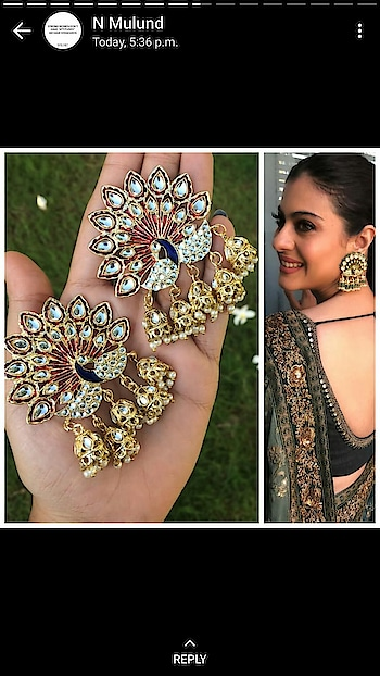 #earrings  #collection  at #online store  watsapp 9999891514