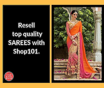 Join Shop101 and start Reselling today. Download: http://bit.ly/2D12b3g #reselling #designer-saree #wedding-saree #saree #indianwear #thebazaar #collection #bridal-wear