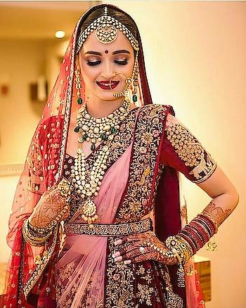 stunning bridal look... #lehnga.. #chooda.. #bridal-outfit.. #bridal-jewellery...