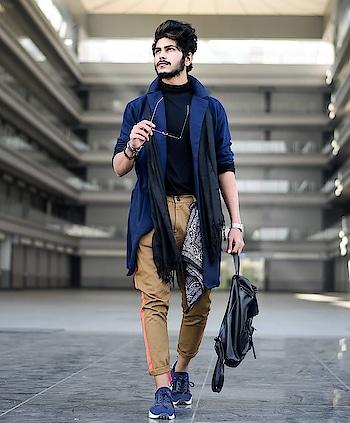 BLUE - WINTER ! . . COAT STYLE SHRUG BY - @fugazeeinc . . SHOT BY - @fantom__photography . . #thestyledweller #tsdfam #fugazee  #thestyledwellerxfugazee  #navyblue #mustard  #black #autumnwinter #winter #mensfashionreview  #menswear #tsdstyle #mensfashion  #streetfashion #winter #winterfashion #shrug #coat #ootd #wiwt #fashion #trend #fashioninfluencer  #fashionblogger  #suratblogger  #surat #india