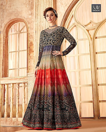 Buy Now @ http://bit.ly/VJV-SAME7091  Auspicious Multi Color Velvet Designer Anarkali Suit  Fabric- Velvet  Product No 👉  VJV-SAME7091   @ www.vjvfashions.com