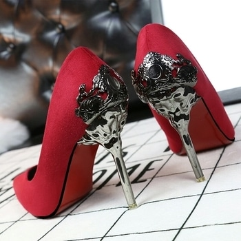 aren't these heels amazing?  totally stealing the show! ! #heels #red #redheels #ralphandrusso #jimmychoo #india #paris #milan #london #newyork #fashion #indianfashionbloggercommunity #roposome #xoxoxo #skfashion #followforfollow #likeforlike #followme #soroposo #trendinggown #indianfashionblogger#love