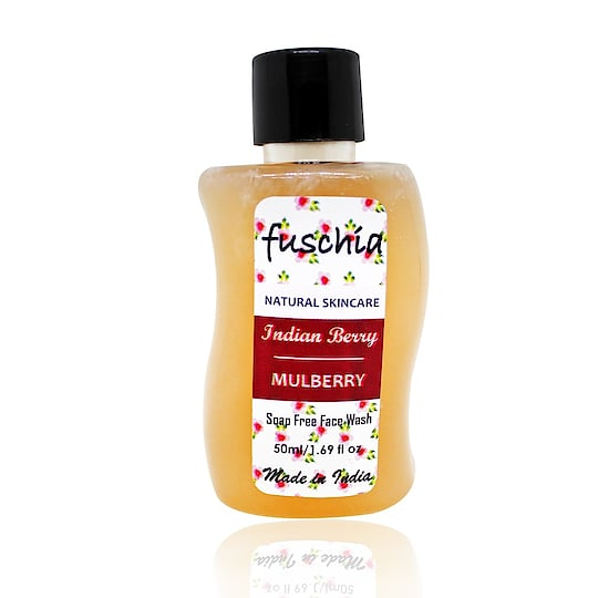 Fuschia #mulberry #Indianberry #facewash is now available in 50ml (250/-) and 100 ml packs (400/-) on our website www.myfuschia.com.    Use the code FUSCHIA20 and get additional discounts on the same.   #slsfree #soapfree #parabenfree #phthalatefree #mineraloilfree #crueltyfree #chemicalfree #nottestedonanimals #madeinindia #bathcare #bathandbody