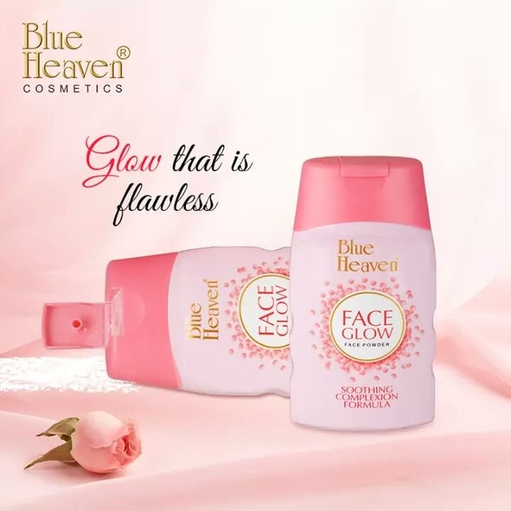 Pamper your face with a soft velvet touch.  Now get that natural glow all day with our Silky White Face glow face powder.  #Glowingskin #Facepowder #velvettouch #softskin #summer #feathertouch #softtouch #makeup #makeupblogger #Blueheaven