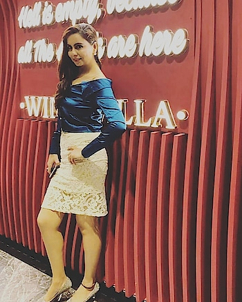 As the Caption Says.....Angel is here 👆  Ootd ❤-: Teal Green Offshoulder Crop Shirt  @yava_fashion  Off White  Net Skirt from #rajourimarket in Delhi  Pumps-: @stelatoesshoesindia from Delhi  #captions  #cliked  #hellisempty #angels  #winevilla #girlsnightout  #fashionootd  #offshouldershirt  #cropshirt  #kneelengthskirt #offwhiteskirt  #netskirt  #goldpumps  #tealgreen  #gracewithattitude #stylepost  #stylecollection #bloggeroutfit  #bloggerday