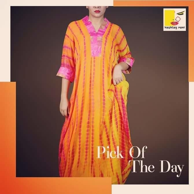 It's saturday, so we bring to you this free flowing carefree look which will definitely go with your weekend mood.  Visit our store today or visit us at www.hashtagrani.in #hashtagrani #hashtag #weekend #weekendlook #saturday #saturdayz #carefreedays #freespirit #free #freshlook #orangeisthenewblack #stylish #designerwear #designer #collection2017 #casuals #casualday #itssaturday #happyweekend #styleforwomen #styles #fashion #fashionforweekend #beautifull #colorsplash #ilovefashion