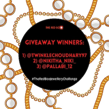 Thanks all you guys 😍 for such an overwhelming response to our giveaway!! Stay Tuned for lots more stunning new designs &  exciting offers 💃💋  Congratulations on the win! @twinklechoudhary97: INR 2500/- Voucher @nikitha__niki__ : INR 1500/- Voucher &  @pallabi_12: INR 750/- Voucher   Hurray! 🎉 . . . . . #theredbox #congratulations #giveaway #giveawaycontest #TheRedBoxJewelleryChallenge #jewellery #fashion #styletherapy #whatiworetoday #contest