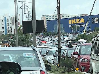 #ikea  store #opening effect in #hyderabad