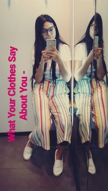 #zaraindia  #shoppingtime  #weekendvibes #weekendoutfit #ropo-love #candycolours #trendycollectio #stripeslove #odds #outfitinspiration