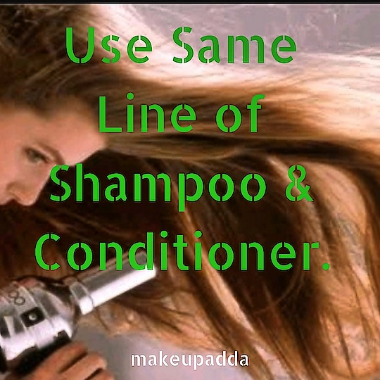 Use Same Line Shampoo & Conditioner. . .  Choose a shampoo and a conditioner from the same line as it has a similar formulation.  These are made for a specific hair type and a specific purpose.  It shows better results when you use a single line instead of two individual products. . . . . . . . . . . . . #haircare #haircareroutine  #contentcreator #hairconditioner  #diyoftheday #diy #tipsforhair #tipsforhaircare  #beautyblogger  #beautyinfluencers #hairshampoo #bangalorebeautyinfluencer #makeupadda #indianbeautyblog  #bangalorebeautyblog #bangalorebeautyinfluencer #tipoftheday  #haircaretips #shininghair #instagood #instatips