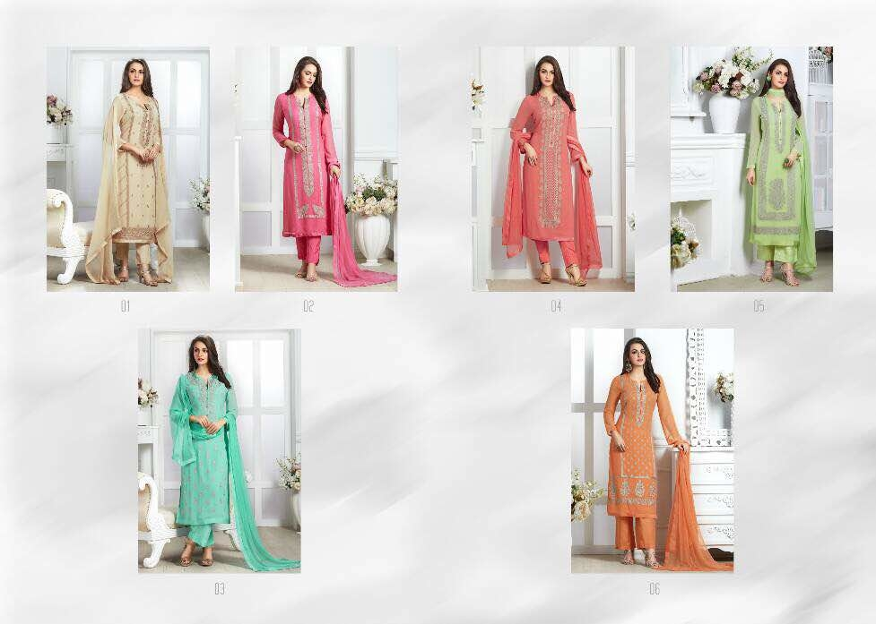 Sahiba  Nour-7  Georget with embroidery work   1295/-  Delivery date - 01-06-2017