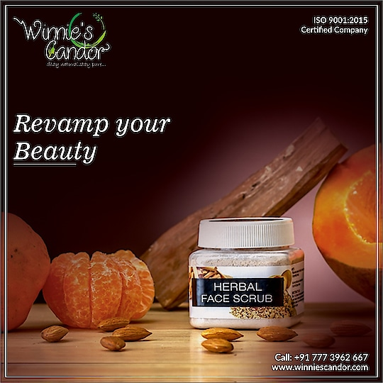 A natural and herbal scrub that works wonders on your skin! #WinniesCandor #HerbalFaceScrub #GoodnessofNature #BeautyRegime #buynoworcrylater