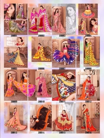 """New launghed....""""SIMRAN""""...by Shree Kushal .16PCS in one set ....Rs.460 per Pcs ..JORGET WTLESS FABRICS. Set to set. Delivery-26-06-17."""