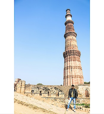 Qutab Ud-Din-Aibak, founder of the Delhi Sultanate, started construction of the Qutub Minar's first storey around 1192. In 1220, Aibak's successor and son-in-law Iltutmish completed a further three storeys. In 1369, a lightning strike destroyed the top storey. Firoz Shah Tughlaq replaced the damaged storey, and added one more.  #qutubminar #delhidiaries #travelislife #canon750d #igtravels #thezahidtravels #amitian #delhigram #indiantraveller #indianyoutuber #lucknowyoutuber #socialinfluencer #delhitimes #delhilife #traveler #travelphotography #travelersnotebook #monuments #historicalmonument