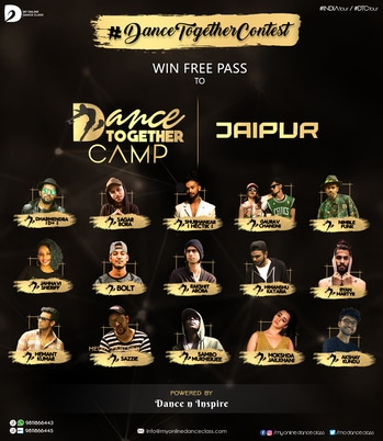 As promised, we are back with the online dance contest #DanceTogetherContest to make you win a free pass to the 'Dance Together Camp - Jaipur'  To participate, visit the @danceninspire app or follow this link:  http://dni.dance/dancetogethercontest  #dancetogether #online #dancecontest #dancechallenge #dtctour #jaipur #myonlinedanceclass #dancetogethercamp #dtcjaipurcontest #danceworkshops #win #free #passes #giveaway #dancegiveaway #contests #contestalert #participate #winbig #onlinecontest #danceninspire