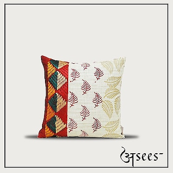 This summer, give your home a nature's touch with these Hand block printed cushion covers in earthy tones of Phulkari embroidery. . . . @shingora #aseesbyaakriti #asees #phulkari  #cushioncovers #phulkari_collection #threadwork #traditional_phulkari #indian_phulkari_designs #instafashion #Fashiondiaries # #homedecor #interiordesigninspo #interior #decor #designlife #homedesign #handmade #homesweethome #interiors  #furniture #luxury  #homedecoration #homestyledecor #interiordecor #instahome #interiordesigner  #homeideas #indianinteriors #indiandecorideas