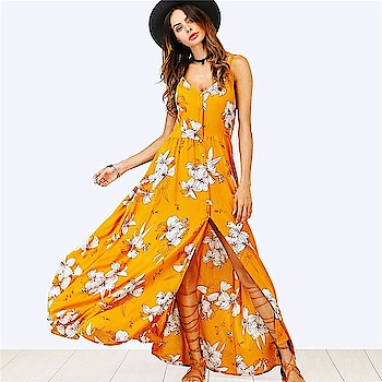 Fresh New Arrivals added to our uber cool collection! Buy this V Neck Fit And Flare Beach Maxi Dress at just ₹1850.00 . | Cash on Delivery with Easy Returns & Exchanges || Up-to 100%* Money Back Guarantee! | Satisfaction Guaranteed | .  #newarrival #trendy #dress #ootd #romper #party #fashion #blouses #jumpsuit #vogue #partywear #womensfashion #poshgrid #style #photooftheday #girls #india #women #trending #maxi #maxidress