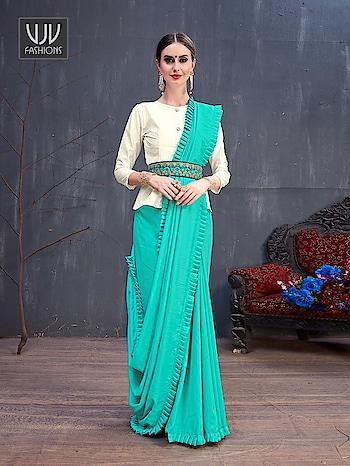 Buy Now @ https://bit.ly/35bMwYF  Trendy Turquoise Color Cotton Designer Classic Saree  Fabric - Cotton   Product No 👉 VJV-CATA8785  @ www.vjvfashions.com