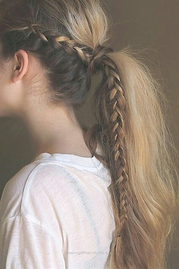 Would you like to wear this ponytail?! #ponytail #braids #hairstyle #frenchbraid #beautifulhair #girl #haircolour #hairlove #followformore