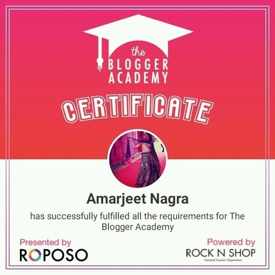 yaaaaaasssss i have done it #roposolovers #roposolove #bloggerindia #bloggersworldwide #fashionista #roposobloggeracademy #bloggerlife #bloggercertificate #bloggerdeets #lifestyle #roposoacademy