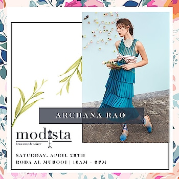 Romantic vintage silhouettes are so @archanaraolabel ! 👗🤩 .  We can't wait to see what this talented Vogue fashion fund winner will be bring to maison Modista this month , watch this space for more sneak peaks and see you at Modista on April 28th at @rodaalmurooj . #Modistadxb #Modista #SpringTrends #springsummer #SS18 #LifeStyleExhibition #Lifestyle #Exhibition #ExhibitionInDubai #Designers #ArchanaRaoLabel #ArchanaRao #silhouette  #Vogue #April28th #Dubai #MyDubai #dubaifashion #trends #fashiondiaries #photooftheday