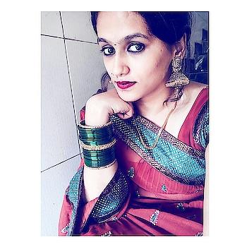 Gudi padwa look ❤ . . #sari #saree #indianstyle #indian-festival #indianwear #indianjewellery #indianchic #desi #marathimulgi #marathifilm #marathiwedding #indianfashionblogger #indianstyleblogger #mumbaiblogger #mumbaifashionblogger #styleadvisor #fashionblogger #styleblogger #fashionblog  #acquiringanaqua #❤
