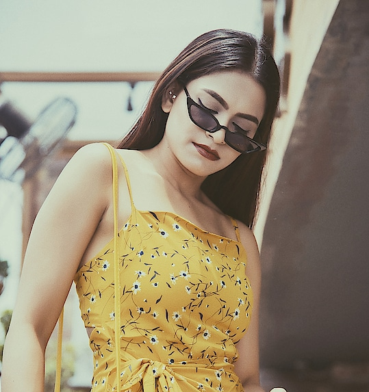 That yellow floral thing! 📸- @rishabh2294_official . . . . . . . . #fashionoftheday #stylish #cool #classy #ootd #fashionblogger #yellow #floral #dress  #fashionpost #fashionlover #white #femellalove #fashionmodel #designer #shein #fashiondesigner #womensfashion #sheingals #instafashion #fashiongram #love #work #blogger #aashimalamba #thebasicrebel