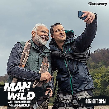 #man vs #wild....#modiji in #discoverychannel... #watch @8PM #today
