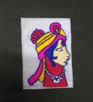 """KING OF HIMACHAL PRADESH""  CHAMBA RUMAL EMBROIDERY   @shivanidaga"