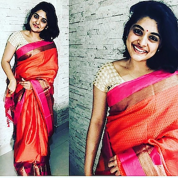 #nivethathomas #cute #cuteness-overloaded #pixie #pic-click #roposo-pic #pictureofday #love #ropso-love #fantastic #fashion_and_style #saree #beautyshoot