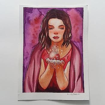 #art #artstudent #artwork #watercolor #watercolours #portrait