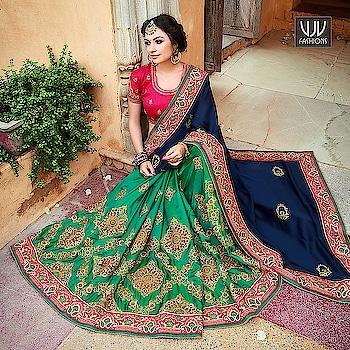 Buy Now @ https://goo.gl/gvmB2c  Fab Green And Blue Designer Half N Half Saree  Fabric- Fancy Fabric  Product No 👉 VJV-MONA712  @ www.vjvfashions.com  #saree #sarees #indianwear #indianwedding #fashion #fashions #trends #cultures #india #instagood #weddingwear #designer #ethnics #clothes #glamorous #indian #beautifulsaree #beautiful #lehengasaree #lehenga #indiansaree #vjvfashions #pretty #celebrity #bridal #sari #style #stylish #bollywood #vjvfashions