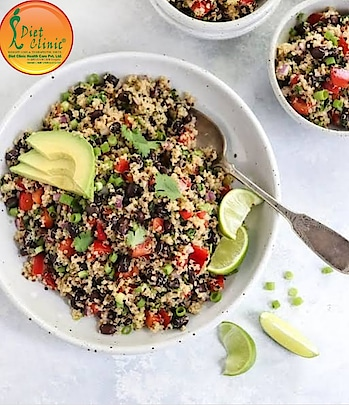 "Quinoa is one of the world's most popular health foods.  Quinoa is gluten-free, high in protein and one of the few plant foods that contain sufficient amounts of all nine essential amino acids..  It is also high in fiber, magnesium, B vitamins, iron, potassium, calcium, phosphorus, vitamin E and various beneficial antioxidants.   In other words, it is basically a seed, which is prepared and eaten similarly to a grain.  Quinoa was an important crop for the Inca Empire. They referred to it as the ""mother of all grains"" and believed it to be sacred.  It has been eaten for thousands of years in South America and only recently became a trend food, even reaching superfood status.  These days, you can find quinoa and quinoa products all over the world, especially in health food stores and restaurants that emphasize natural foods.  There are three main types: white, red and black.  This is the nutrient content in 1 cup (185 grams) of cooked quinoa (2):  1. Protein: 8 grams. 2. Fiber: 5 grams. 3. Manganese: 58% of the recommended daily allowance (RDA). 4. Magnesium: 30% of the RDA. 5. Phosphorus: 28% of the RDA. 6. Folate: 19% of the RDA. 7. Copper: 18% of the RDA. 8. Iron: 15% of the RDA. 9. Zinc: 13% of the RDA. 10. Potassium 9% of the RDA. 11. Over 10% of the RDA for vitamins B1, B2 and B6. 12. Small amounts of calcium, B3 (niacin) and vitamin E. This comes with a total of 222 calories, with 39 grams of carbs and 4 grams of fat. It also contains a small amount of omega-3 fatty acids.  Quinoa is non-GMO, gluten-free and usually grown organically. Even though technically not a cereal grain, it still counts as a whole-grain food.  Quinoa is an edible seed that has become increasingly popular among health-conscious people. It's loaded with many important nutrients  Join diet clinic Gujranwala town #Call us at:- 8800997701/03 Address:- 224 Gujranwala town part 3 North Delhi 110009  #Toll Free: 8010-888-222  #Give Miscall : 9266888222  WhatsApp < your Name> <space > < your City> to 88-2626-0707 sms DIET to 56161 Website- www.dietclinic.in Visit www.DietClinic.co.in  #diet #dietplan #dietfood #dietitianapproved #dietitian #fitness #fit #slim #health #healthy #healthyfood #franchise #businesspartner #dietclinic #dietclinics #dietclinicnorthdelhi#dietclinicgujranwalatown#dietclinicapp"