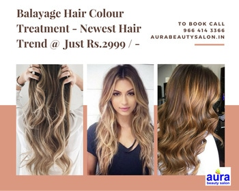 #Balayage Hair Colour Treatment @ www.AuraBeautySalon.in  #MaladWest #Mumbai. To Book  Appointment  Call - 9664143366  #hairfashion #haircolour #balayage #hairtrends #hairtreatment #hair-story #newfashioneveryday #new-style #fashiontips #fashiontrends
