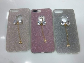 Shemeer with daimond bow with hanging chain IPh 5 IPh 6 IPh 6+ IPh 7 Iph7+ J2 J7 J710 Note5 S6edge S7edge S8 S8+  Price-550/- free shipping