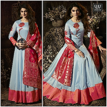 Buy Now @ https://goo.gl/yqH3VL  Jennifer Winget Sky Blue Color Silk Designer Anarkali Suit  Fabric- Silk  Product No 👉 VJV-MUGD11024  @ www.vjvfashions.com  #dress #dresses #bollywoodfashion #celebrity #fashions #fashion #indianwedding #wedding #salwarsuit #salwarkameez #indian #ethnics #clothes #clothing #india #bride #beautiful #shopping #onlineshop #trends #cultures #bollywood #anarkali #anarkalisuit #beauty #shopaholic #instagood #pretty #vjvfashions