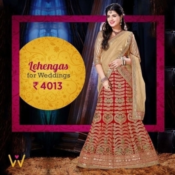Mesmerizing Designer Lehenga With stone work for you to strike your grace at the next wedding you attend from WedLista.com!  SHOP NOW: http://bit.ly/WL_Lehenga  #WedLista #FashionForWeddings