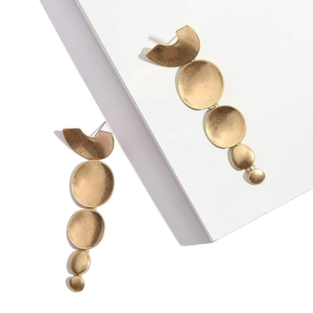 ' You are Gold Baby, Solid Gold.' #staygolden ✨http://theredbox.co.in/en/product/descending-discs-earrings/ . . . . . #theredbox #crazysexycool #spiceitup #discearrings #earrings #earringsoftheday #style #stylediary #golden #goldenearring #shopping #onlineshopping #maylove #summercollection #springcollection #spring #shopall #freshstock #trendylook #lookbook #ootdguide #stylemania #musthave #voguish #vogue #celebritystyle #chiclook #todayspecial #stylish