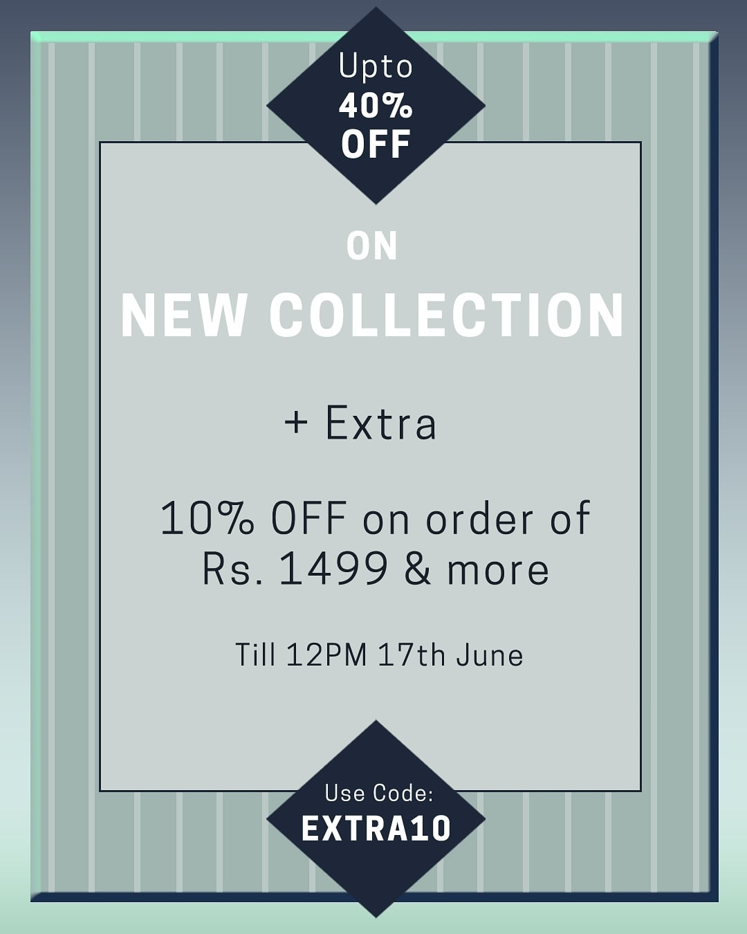 Enjoy upto 40% off on our New Collection + Extra 10% off on the cart value of Rs.1,499. Use Code : EXTRA10  .   #sale #summer #shop #koastub #fashion #onlineshopping