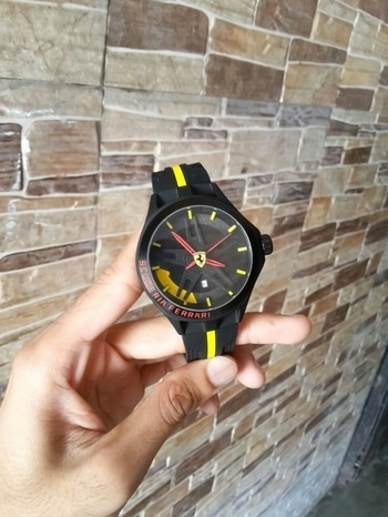 #Ferrari #Scuderia #7A #For Men #Specifications - #sports #look, #high end #quartz #machinery, #metal case, #elegant dial with #macwheel #structure, #soft #silicone #strap. Available @ Rs 2700 free #shipping all #over #india Dm or #whtssp to place order 9722558640 #watchforsale #watch #ferrari #ferrariwatch