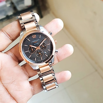 🌟 *Longines Automatic Premium Classic Two Tone Meatl Strap Watch Available & Ready to today* 🌟  # Longines # For Men # 7A # Features-Working chronograph,  displaying date, 60 min stop watch, 30 min stop watch, *Guaranteed Japanese Automatic Machiney* with smart Two Tone Metal Chain  Strap, Rose Gold Bazel & original dual clasp Longines lock , Back Open   ✨ New model with price updated & Free Armani Brand box ✨  *Available @ Rs 2650/+Ship*..p LM 9501023209