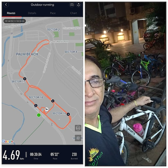 Does not matter what you do for fitness, so far you are moving yourself  Today took out my cycle which did not move for so long  So on cycle ride early morning  shapeitup #newyearresolution #loseweight #bodytransformation #wellnesscoach #sunrisenutritionhub #lifestylebusiness