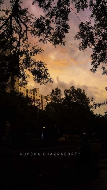 "Dusk in my city  ""Follow me for more""  #mycity #kolkata #westbengal #cityofjoy #duskybeauty #silhouettes #photographyblogger #naturephotography #roposotalenthunt"